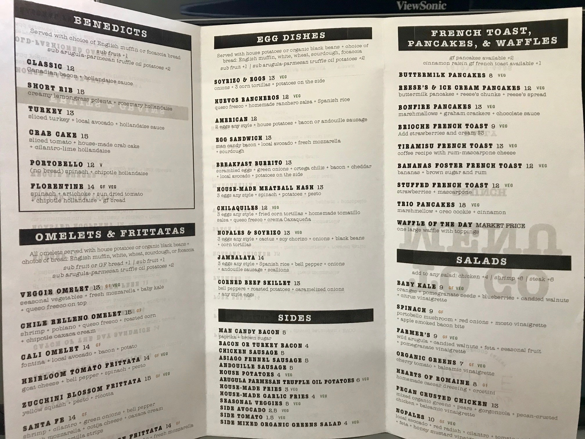 To-Go Brunch Menu